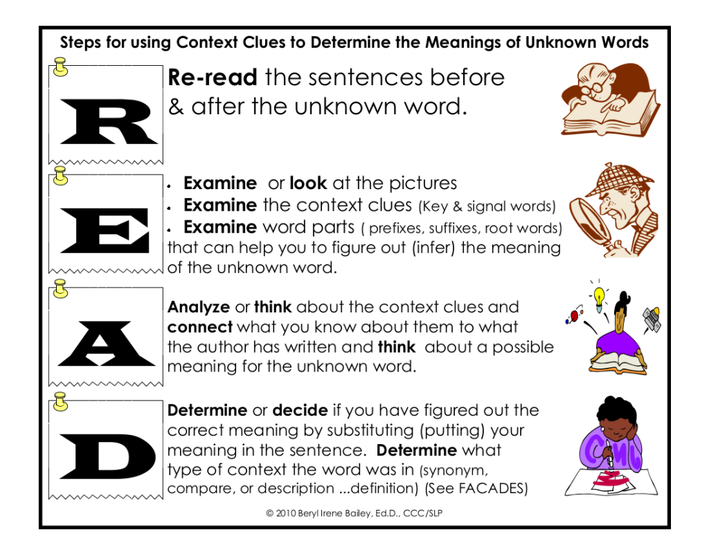 Worksheet Context Clues context clues mrs leiterman cows practice with this game